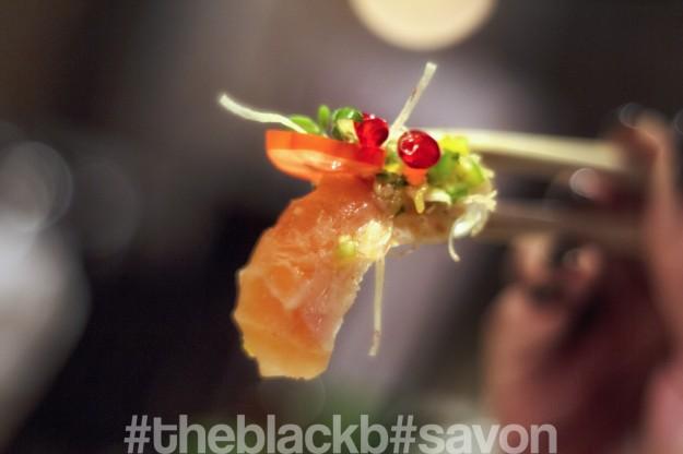 Sashimi Salmon with Passion Fruit